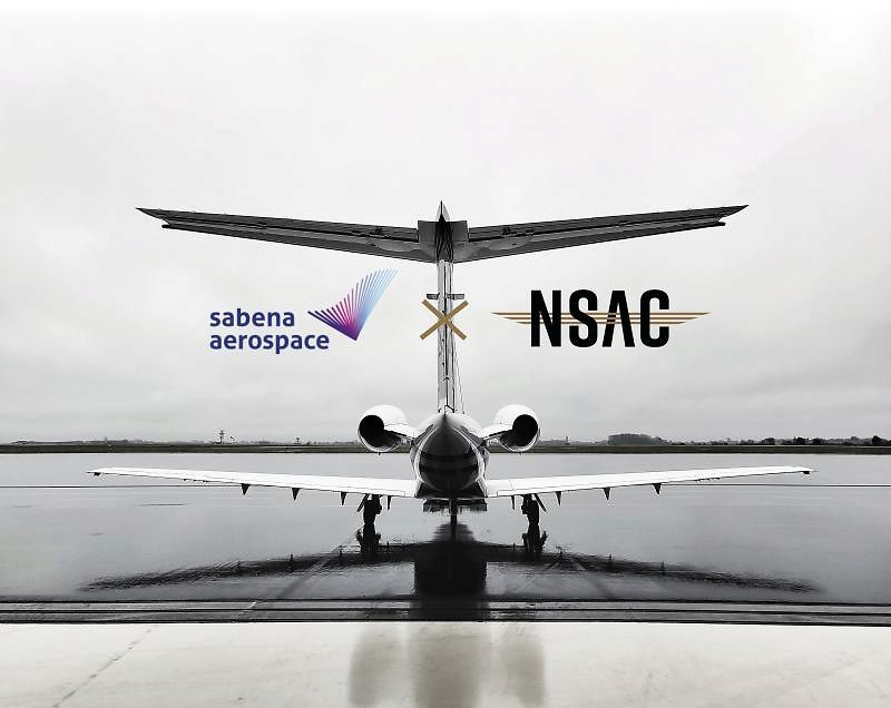Sabena aeropspace uses NSAC as partner for their homebased aircraft at EBOS